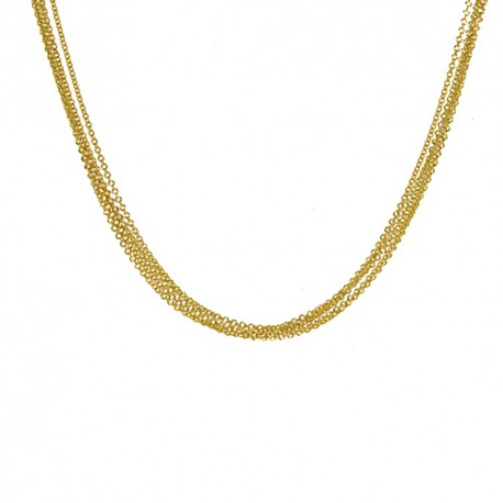 18K Yellow Gold 5 Strand Cable Chain 1.5mm