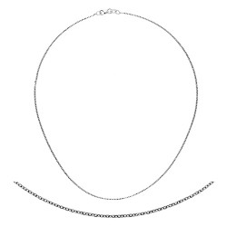 18K White Gold D.C. Cable 1.3mm