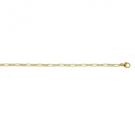 18K Yellow Gold Oval Cable Chain 2.4mm