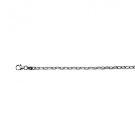 18K White Gold Oval Cable Chain 2.9mm
