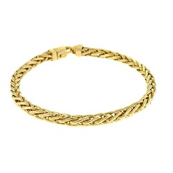 14K Yellow Gold Solid Wheat Chain 5.1mm