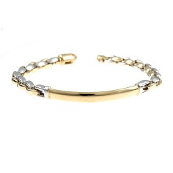 14K Yellow/White Gold Bracelet