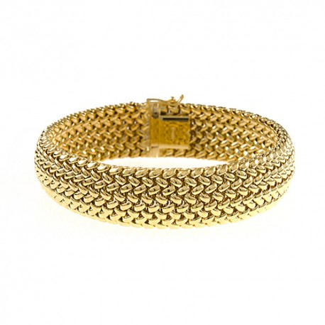 14K Yellow Gold Mesh Bracelet