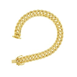 14K Yellow Gold Double Link Bracelet