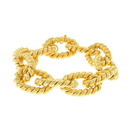 14K Yellow Large Links Bracelet 20mm