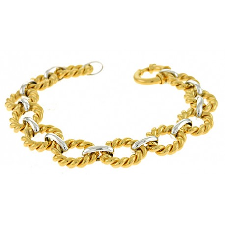14K White & Yellow Gold Links Bracelet