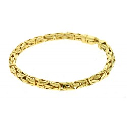 14K Yellow Gold Byzantine Bracelet 5.3mm