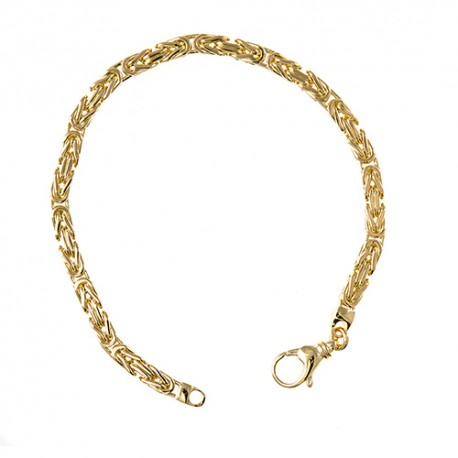 14K Yellow Gold Byzantine Bracelet