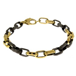 14K Yellow/Black Gold Bracelet