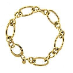 14K Yellow Gold Mixed Link Bracelet