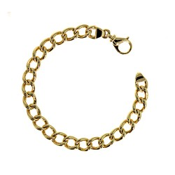 14K Yellow Gold Round Curb Bracelet 8.8mm