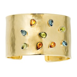 14K Yellow Gold Cuff Bracelet 37mm