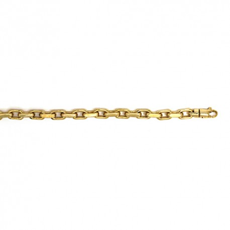 14K Yellow Gold Solid Link Bracelet 7.7mm