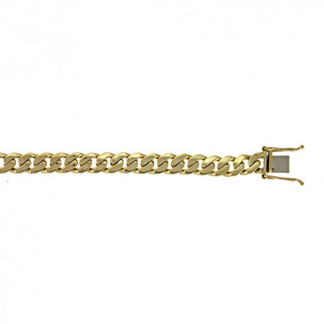 14K Yellow Gold Curb Link Bracelet 7.7mm
