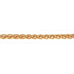 14K Pink Gold Wheat Chain 2.5mm