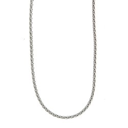 14K White Gold Wheat Chain 3.1mm