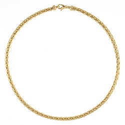 14K Yellow Gold Wheat Chain 4.8mm