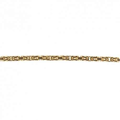 14KT Yellow Necklace Byzantine