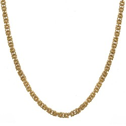 18K Yellow Gold Byzantine Chain