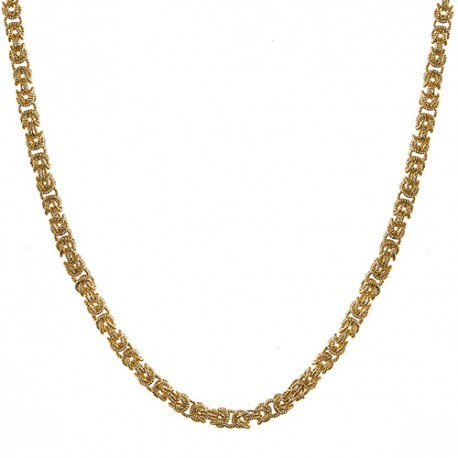 18KT Yellow Necklace Byzantine