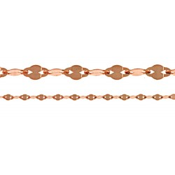 14K Pink Gold Fancy Style Chain