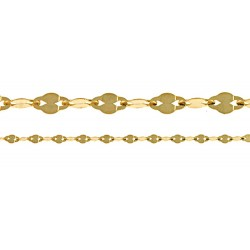 14K Yellow Gold Figaro Fancy Chain