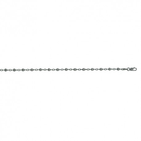14K White Gold Fancy Link Chain