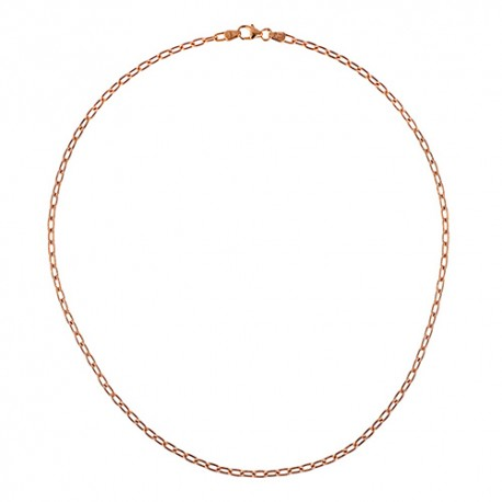 14K Pink Gold Oval Link Chain