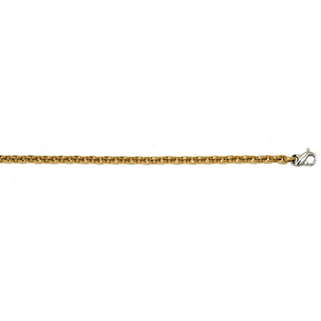 14K Yellow Gold Solid Oval Link Chain