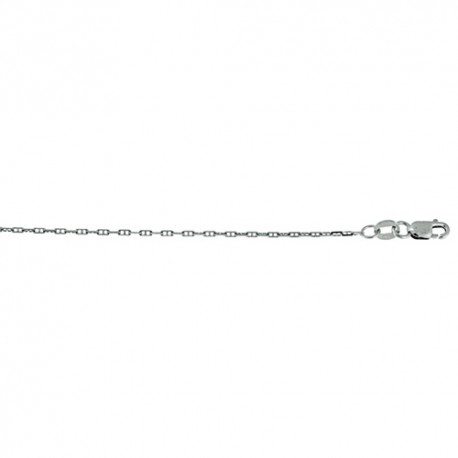 14K White Gold Anchor Link Chain
